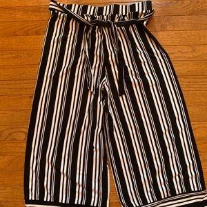 Black & White Wide Leg Pants
